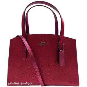 COACH Charlie Carryall Leather Tote Handbag